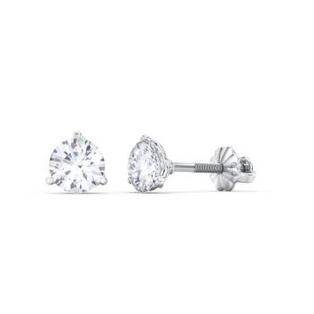 1x pair of earrings with diamond design 18mm metal disc with gem print on surgical steel posts joke gift Gem Earrings gag gift
