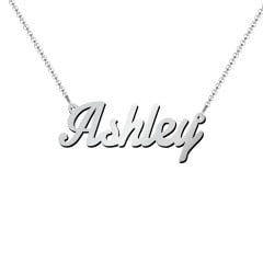 Lucky Birthstone Elephant Necklace Silver Name Necklace Personalized Initial with You Name Baby Jewelry