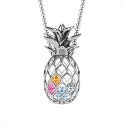 14K Yellow Gold Drop Of Tropical Pineapple Cutout Necklace by JEWLR